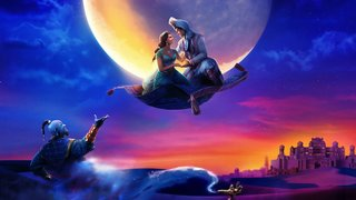 Will Smith, Naomi Scott, Mena Massoud Guy Ritchie on Aladdin
